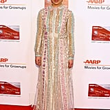 Ruth looked ethereal in Valentino at the 16th Annual AARP's Movies For Grownups Awards.