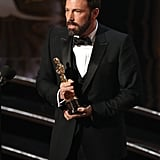 Ben Affleck took the stage to accept his Oscar.
