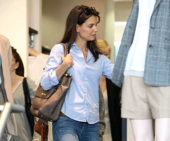Slide Picture of Katie Holmes Shopping at Club Monaco