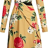 You'll look royally gorgeous in MSGM's high-neck floral-printed crepe dress ($1,091).