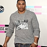 Nelly went with a casual look for the night.