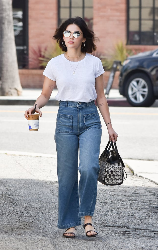 Style Your T-Shirt With: Jeans and Sandals