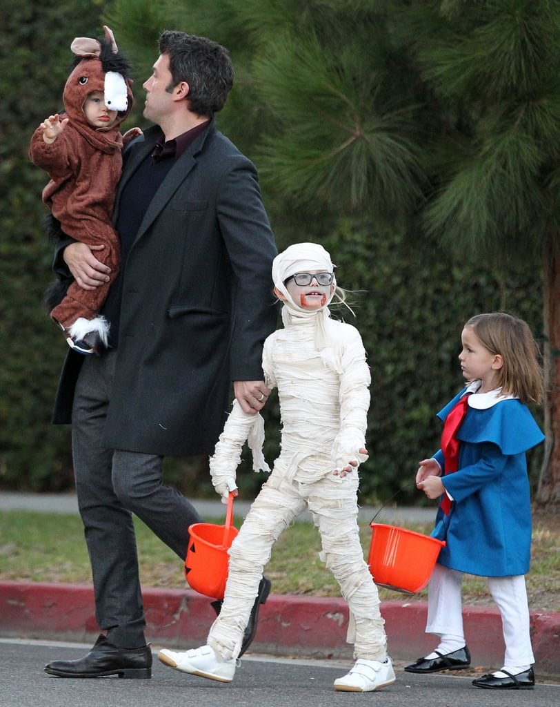 Ben Affleck took his children trick-or-treating in Brentwood.