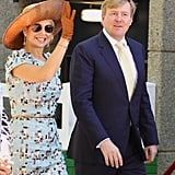 Queen Máxima and King Willem-Alexander in an official visit to Australia.