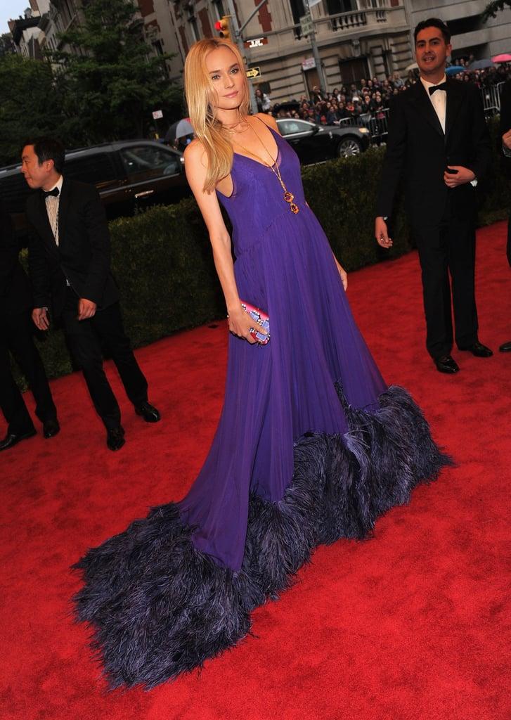 Diane Kruger Wearing Prada at the Met Gala in 2012