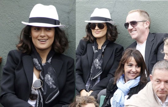 Pictures of Salma Hayek And Francois-Henri Pinault Together at The French Open