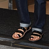 And Flat Strappy Sandals!