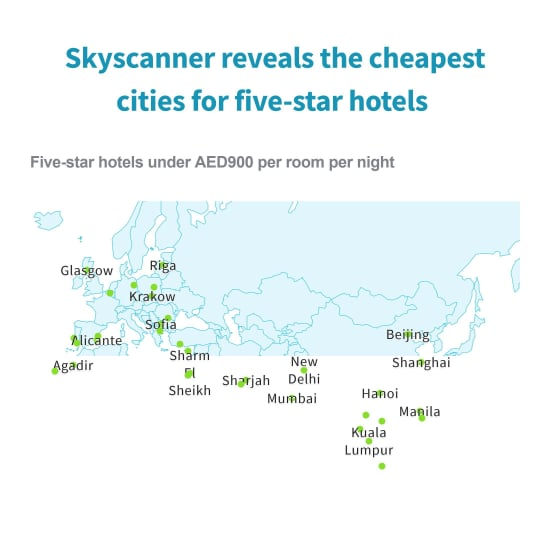 Cheapest Places in the World to Stay at 5-Star Hotel