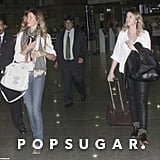 Gisele Bundchen traveled with her sister Patricia.