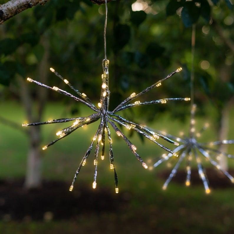 Outdoor Solar LED Firework Fairy Hanging Lights