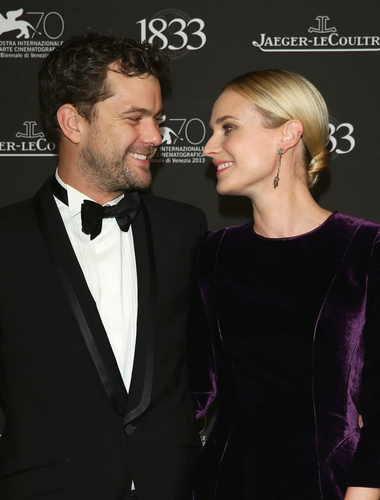 Joshua Jackson and Diane Kruger exchanged sweet smiles at a gala dinner.