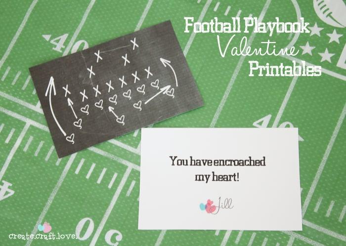 Football Fan Valentine's Printable