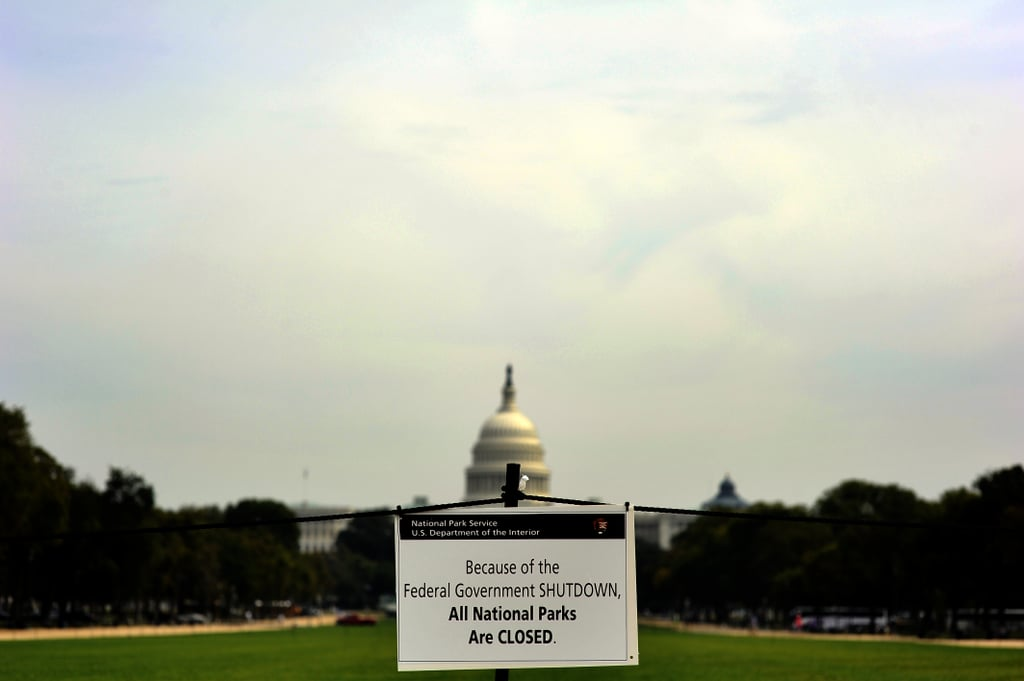 Museums and national parks across DC were closed following the shutdown.