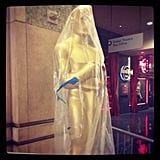 Oscar was still wrapped in plastic two days before the ceremony.