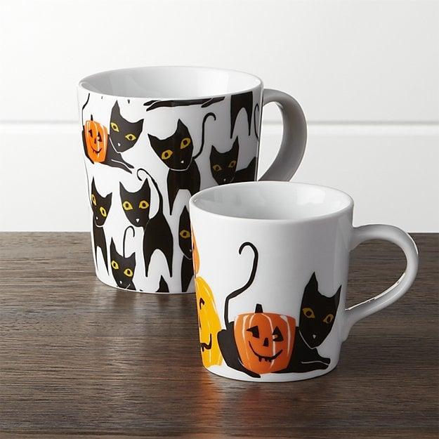 Halloween Cat and Pumpkin Mugs ($4)