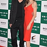Angelina Jolie made the trip to Tokyo with Brad Pitt in November 2011 where he screened his baseball drama, Moneyball.