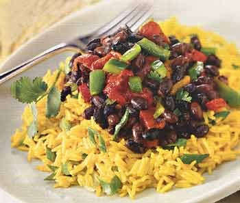 Fast, Easy, Vegetarian Recipe For Rice Salad With Peppers and Beans