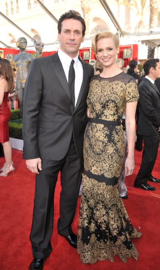 Pictures of January Jones and Jon Hamm at 2011 Screen Actors Guild Awards