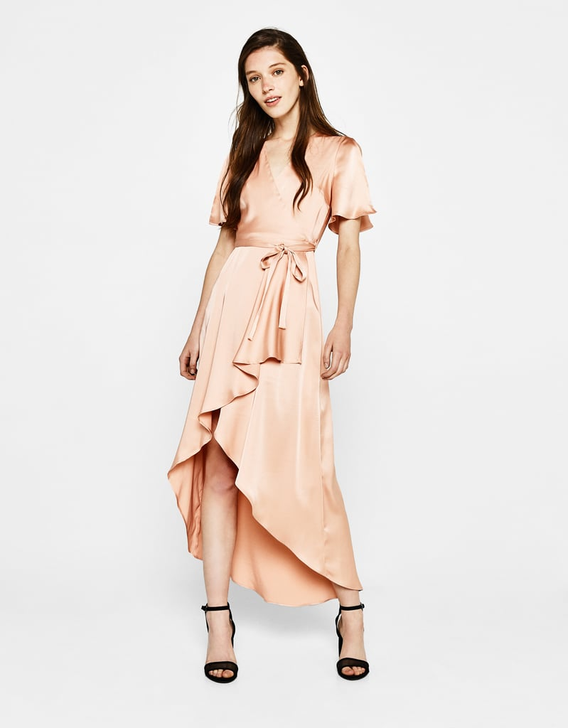 Bershka Sateen Wrap Dress (£50)