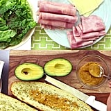 Ham, Cheese, and Avocado Sub Sandwich