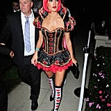Alessandra Ambrosio gave us the sexy side of the Queen of Hearts at a Halloween party in October 2013.