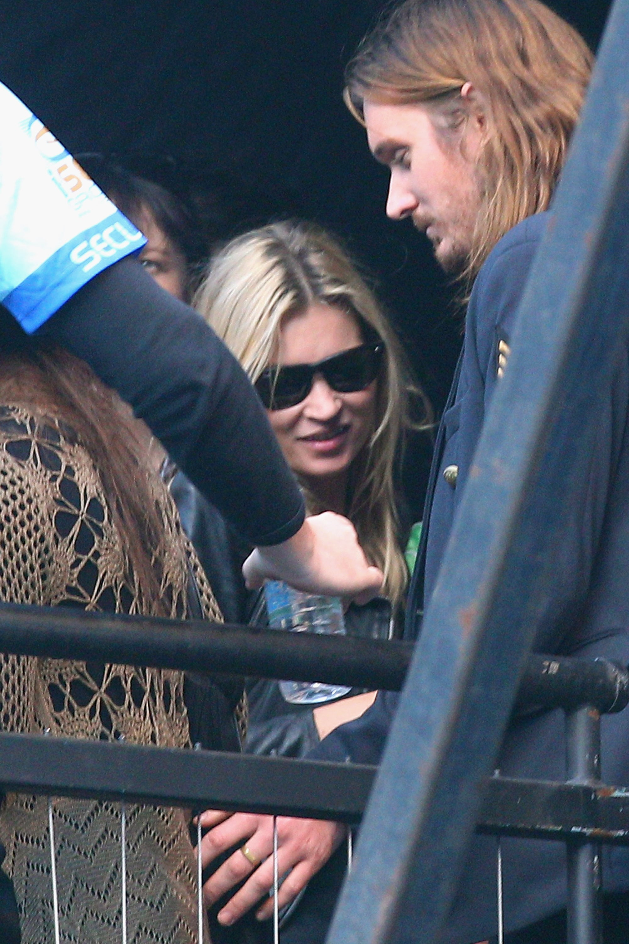 Kate Moss hangs backstage at Splendour in the Grass.