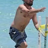 Leonardo DiCaprio Goes Shirtless in Miami