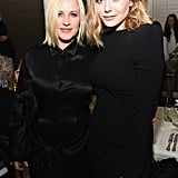 Elizabeth Olsen and Patricia Arquette went with all-black looks for the Vanity Fair and Barneys New York event for OXFAM at Chateau Marmont.