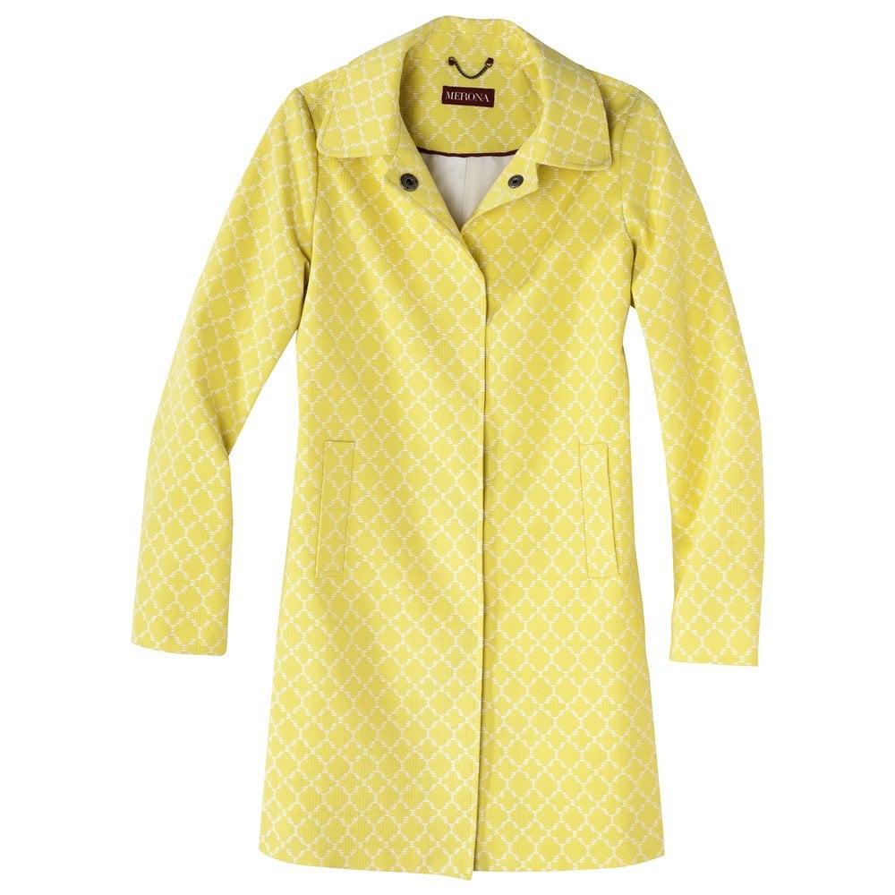 Merona yellow jacquard coat ($60)