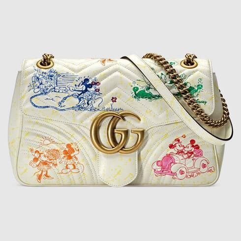 Online Exclusive Disney x Gucci GG Marmont Medium Shoulder Bag