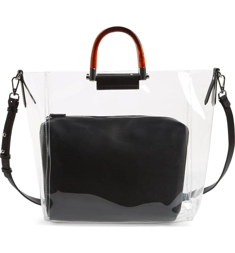 Topshop Sallie Perspex 2-in-1 Handbag