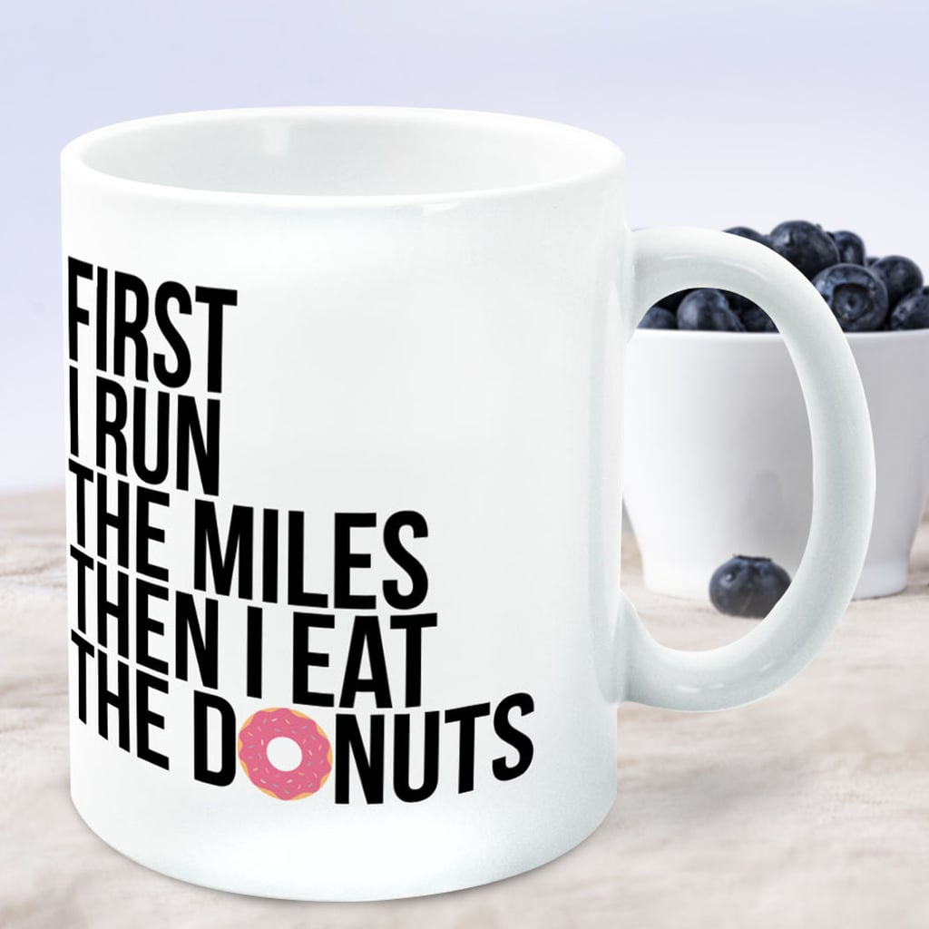 """Then I Eat The Donuts"" Runner Coffee Mug"