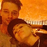 Miley Cyrus shared a cuddly snap with Patrick Schwarzenegger.