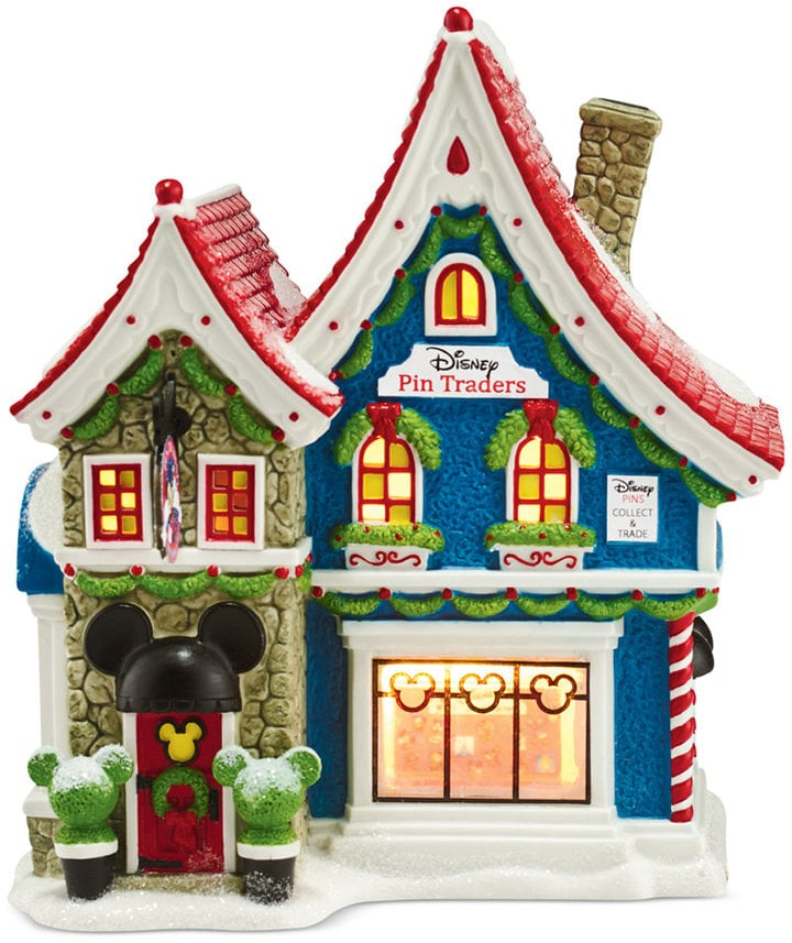 mickeys christmas village collection mickeys - Mickey Mouse Christmas House Decorations
