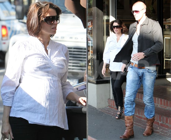 Pictures of Pregnant Dannii Minogue and Kris Smith