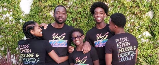 Dwyane Wade's Son Zaire Showed Support For Zaya