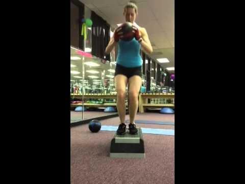 Bench jump squat