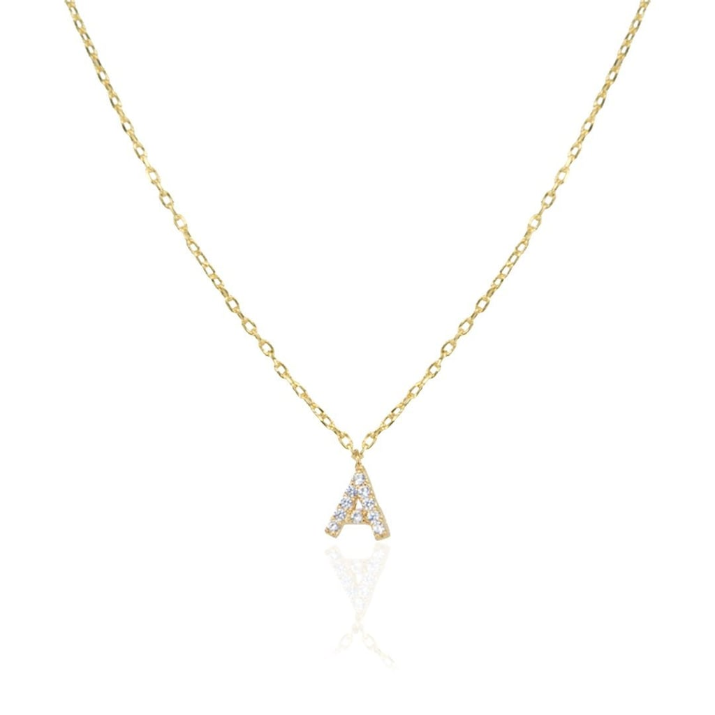 Melinda Maria A-Z Itty Bitty Pave Letter Necklace