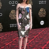 Anne Hathaway Christopher Kane Dress at Alice Premiere 2016