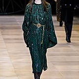 A Green Dress From the Celine Fall 2020 Water Runway at Paris Fashion Week