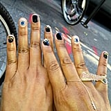 "Rachel Roy showed off her ""evil eye"" manicure.  Source: Twitter user Rachel_Roy"