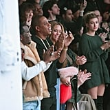 And Hailey Had a Front Row Seat at Kanye's Fashion Show