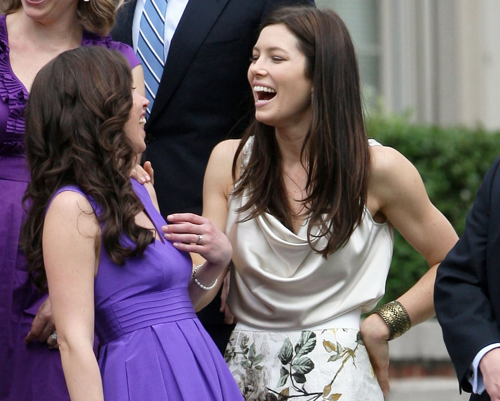 Jessica Biel Brightens Up a Friend's Wedding With Her Unforgettable Smile