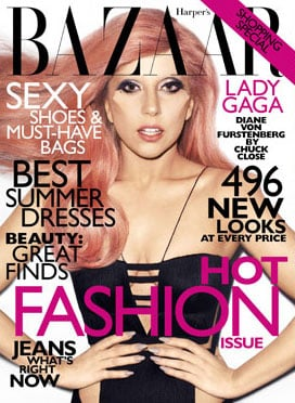 The Versace dress made it to the cover.