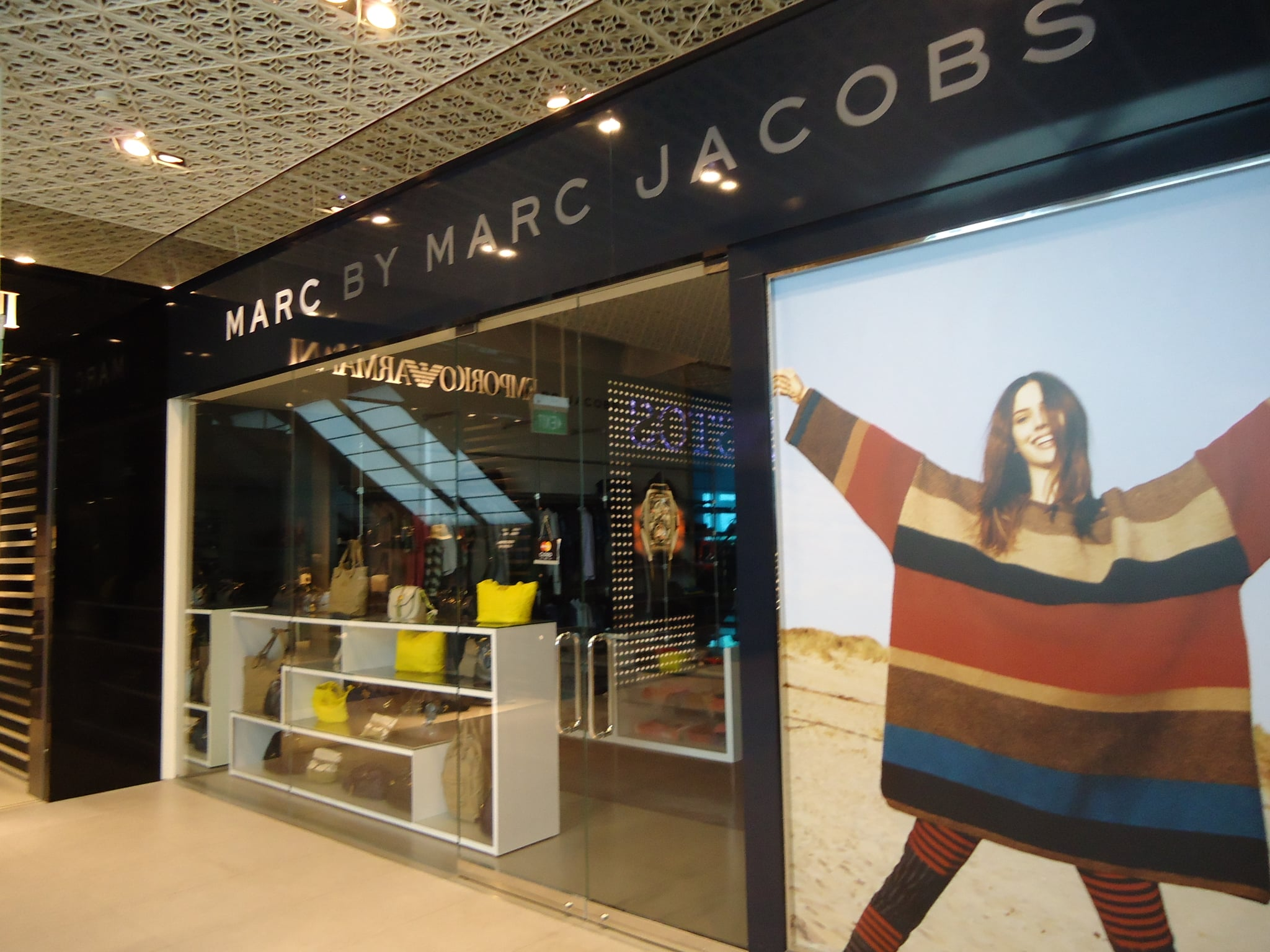 Holy moly, it's Marc by MarcJacobs. In my hotel lobby.