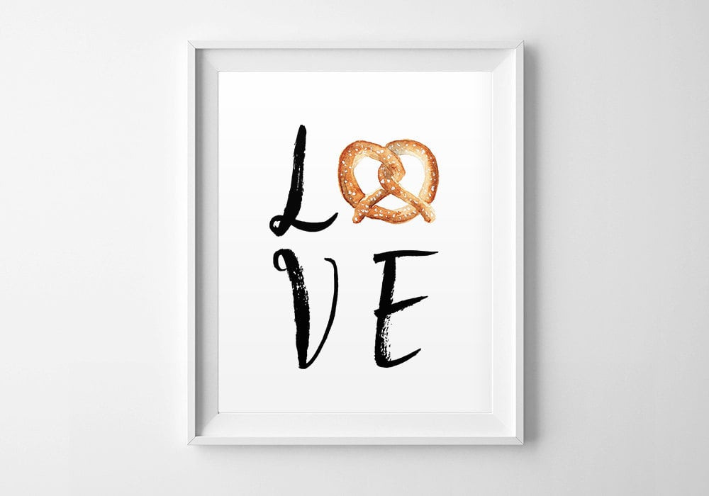 Love Pretzel Wall Art ($5)