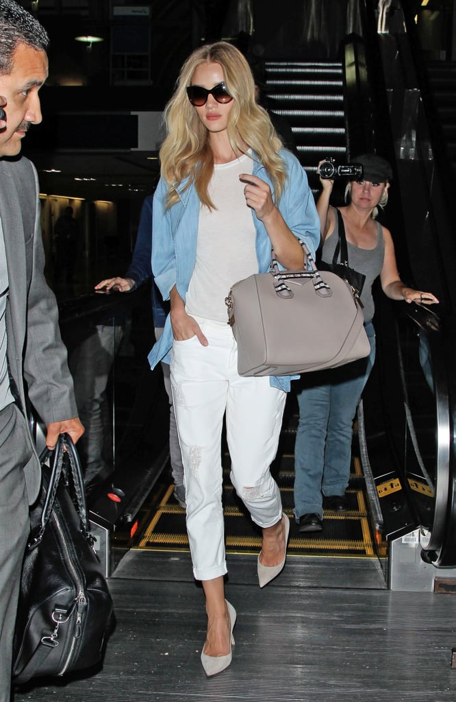 Rosie Huntington-Whiteley in Denim-on-Denim