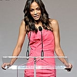 Zoe Saldana attended the event shortly after announcing the news of her breakup with fiancé Keith Britton.