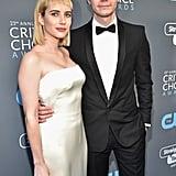 Evan Peters and Emma Roberts at 2018 Critics' Choice Awards
