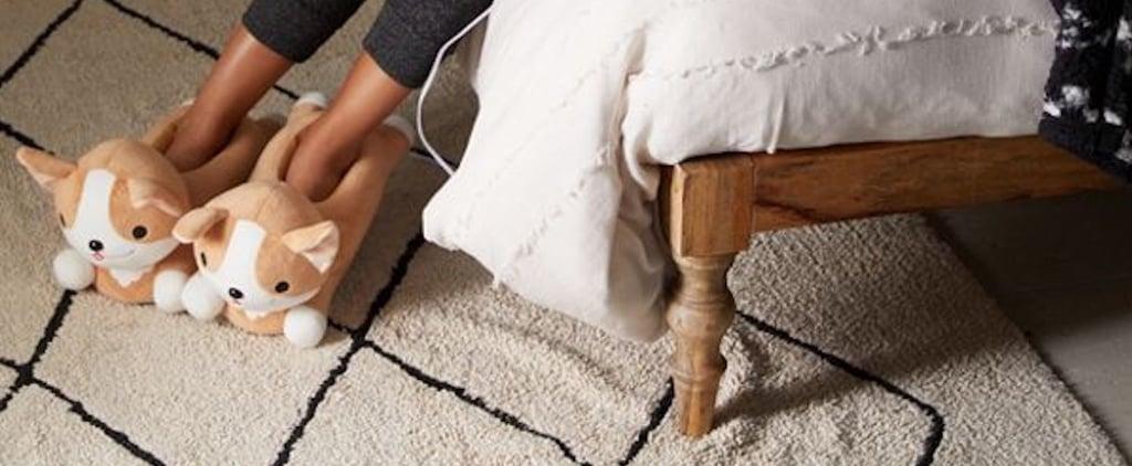 Heat-Up Corgi Slippers